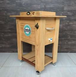 Cooler de madeira