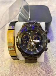 Kit relógio masculino
