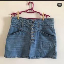 Saia jeans, numeração 44