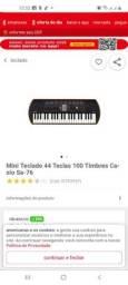Mini teclado 44 teclas 100 timbres caso sa-76