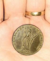 Moeda antiga raridade!!5 liras italiana..1848