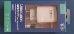 Carregador Rápido inova CAR-9002 5.1A USB Cabo micro USB/V8