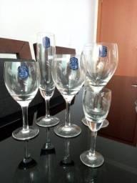 Jogo de taças em cristal Blumenau