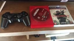 Controle Playstation 3 + 2 jogos