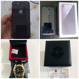 iPhone8 256gb, relógio technos zero na garantia 07/08/22 aceito no 8 plus