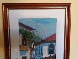Vários quadros pintados à mão cada um 45