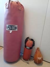 Saco de Boxe grande, Saco de Boxe pequeno e Punching Ball