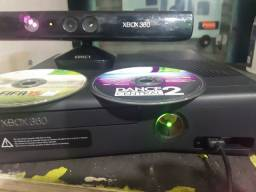 Xbox 360 slim + Kinect +2 jogos original