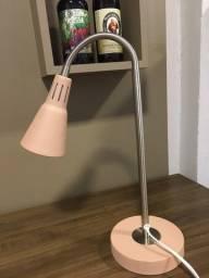Luminária de mesa rose