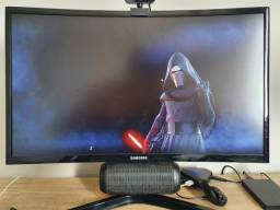 """Monitor Led Gamer Samsung 24"""" Curvo Fhd 144hz - Usado"""