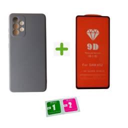Kit Capinha Aveludada + Película 9D Para Samsung A52