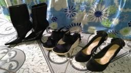 Vendo 3 pares de sapatos por R$100