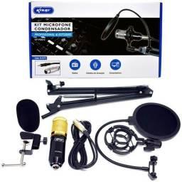 Kit Microfone Condensador Profissional (youtuber)