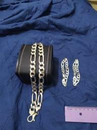Corrente de prata italiana 140 gramas