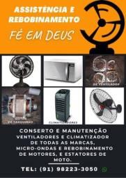Conserto e Manutenção de Ventiladores e Climatizador