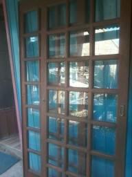 Barbada Porta de maderira quadriculada