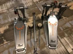 Pedal Duplo Pearl Demonator Semi-novo