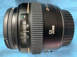Lente Canon Ef 50mm F/1.4 Usm (zerada) Aceito PicPay