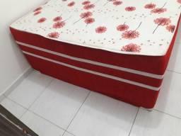 Cama casal unibox Anatômica bordado