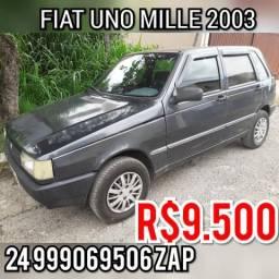 Fiat uno mille 03 álcool/gnv doc ok - 2003