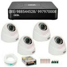 Cftv completo 4 câmeras instalado