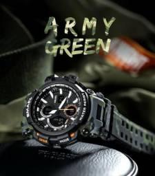 c83bf521927 Relógio Smael Militar Camuflado Prova Dágua Original