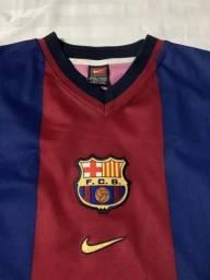 Camisa retrô do barcelona original 8b258e387cb46