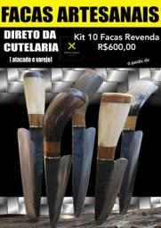 Kit 10 Facas Artesanais Disco de Arado Varejo e atacado