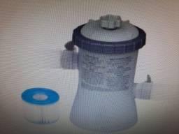 Piscina Inflável 2592L + Filtro de limpeza elétrico + Capa protetora