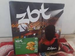 Kit de pratos Zildjian ZBT com pouco uso
