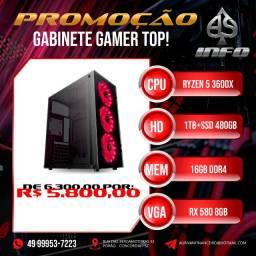 Gabinete Gamer 3600x Rx580 8gb