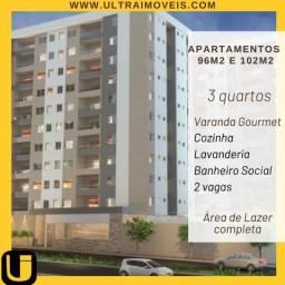 Apartamento 3 quartos, Bairro Santa Mônica, 2 vagas, Varanda Gourmet, Lazer Completo