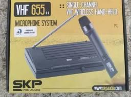 Microfone De Mão Sem Fio Skp Vhf-655 Preto