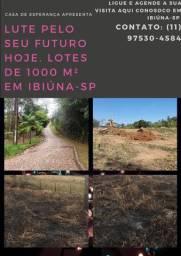 Terrenos de 1000 m² pronto para começar a construir venha aqui em Ibiúna-SP