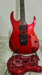 Guitarra Ibanez e pedaleira vamp 3