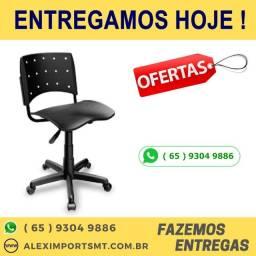 Cadeira Giratória sem Braço Secretária Ergoplax Plaxmetal Empresario cuiaba
