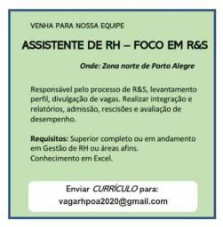 Assistente de RH - foco em R&S
