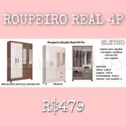 GUARDA ROUPA REAL 4P COM ESPELHO 33