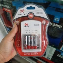 Kit pilhas e carregador AAA MOX