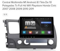 Central multi mídia M1 civic 2007 a 2011