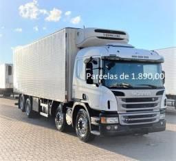 Scania P310 2016/2017 Baú  TermoKing Entrada e parcelas agregamento em curitibanos