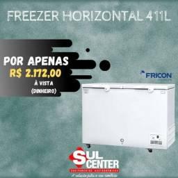 Freezer 2 tampas cegas 411 litros novo * Géssica