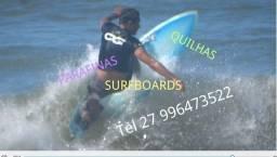 Quilhas de surf novas fibra e nylon