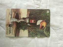 Cartão telefônico antigo, Tucano