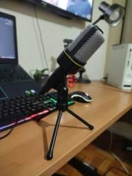 Microfone de Mesa Inova Mic-8641 Condensador e Entrada P2
