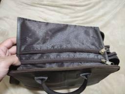 Bolsa de couro legítimo masculina