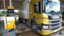 Scania P320 2019 8x2 Bitruck Baú Alumínio Entrada mais Parcelas Contrato Serviço.