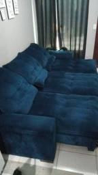 Sofá reclinável retrátil