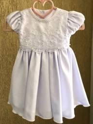 Vestido Branco bebê Batismo