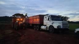 Scania 112 hw 6 marchas e carreta ls graneleira